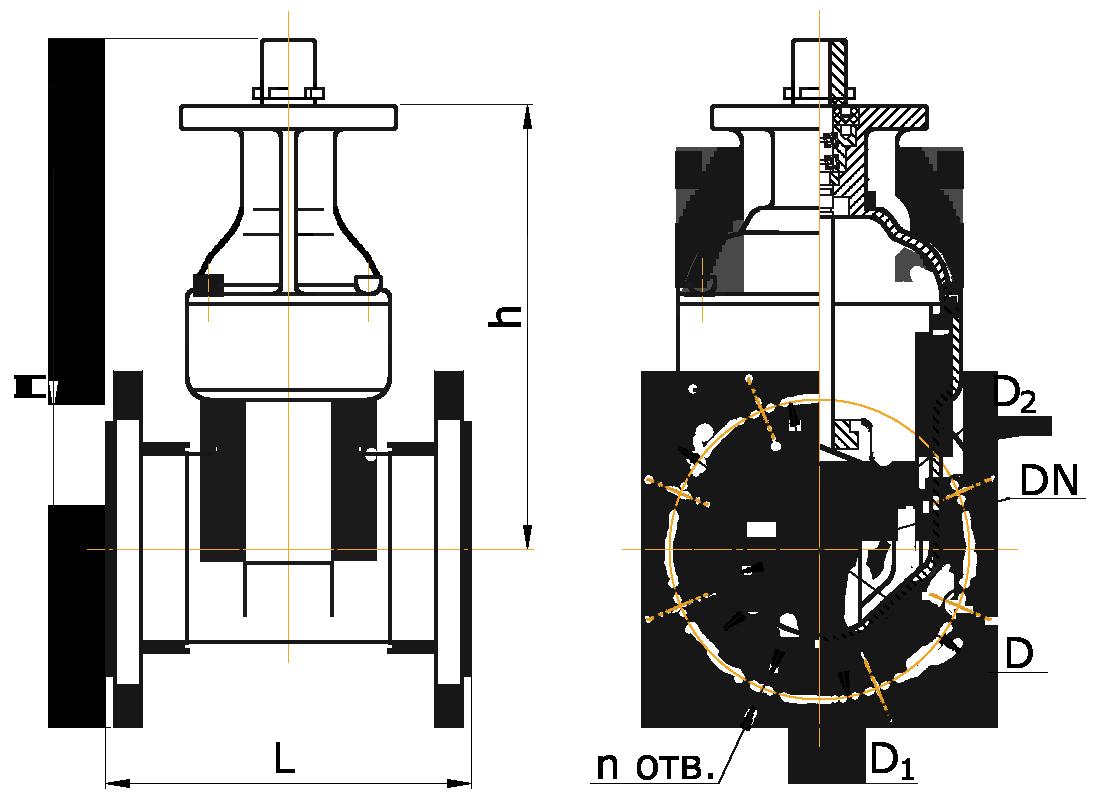 Задвижка ЛАЗ 30ч939р - Схема
