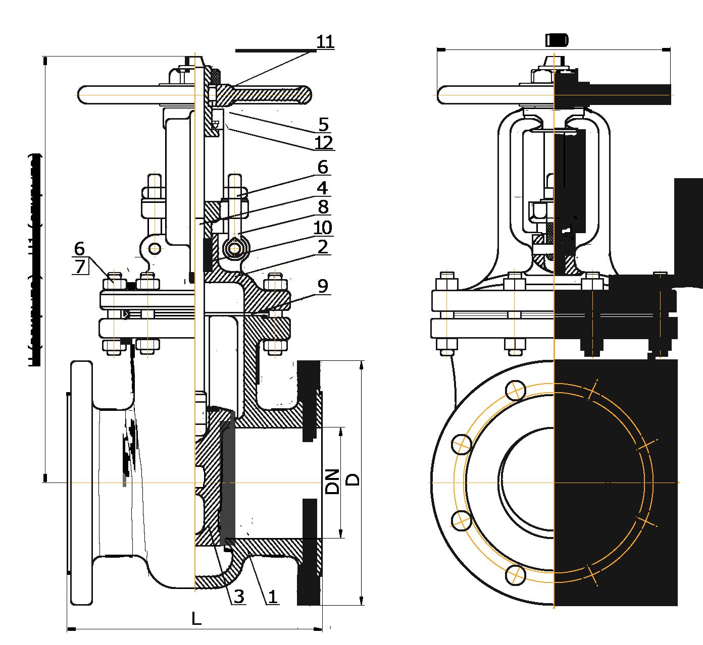 Схема задвижки 30с41нж